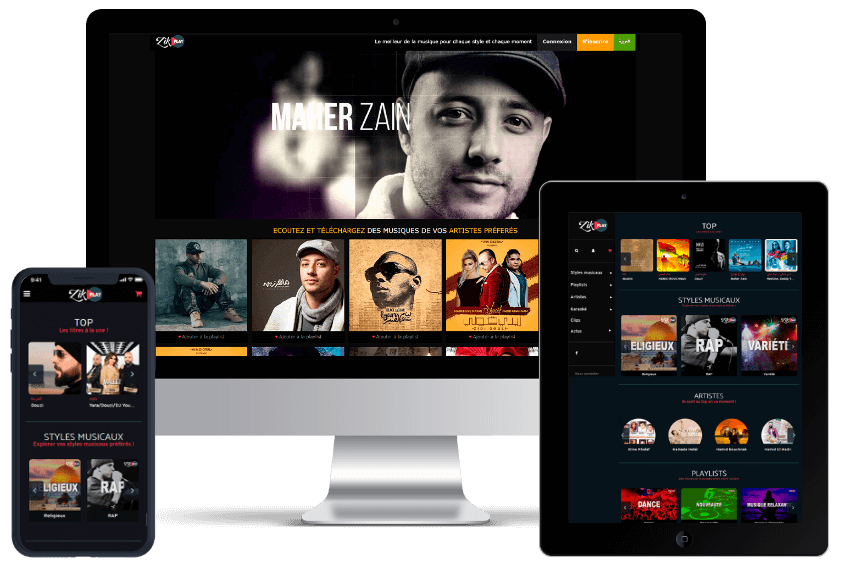 Zikplay product interface