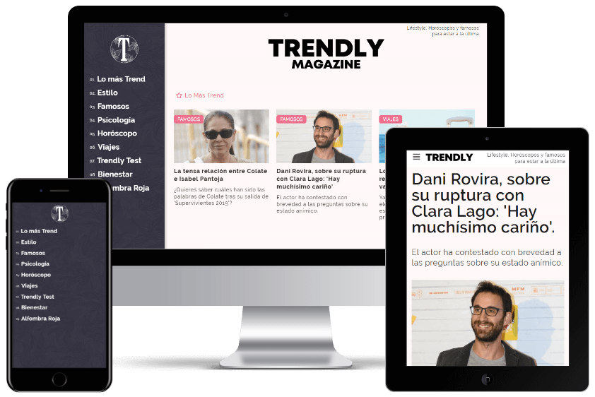 Trendly product interface
