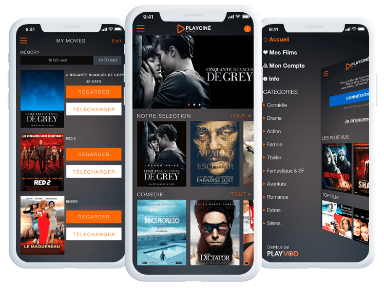 Playciné by Orange product interface